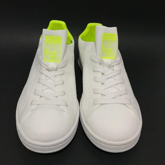adidas Stan Smith Primeknit White neon yellow NWT